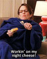 """Working on my night cheese!"""