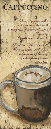 """Cuppuccino // FRAME THIS FOR THE """"NEW"""" KITCHEN!!! ❤A"""