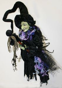 heluga witch on broom halloween doll by katherines collection halloween doll and witches