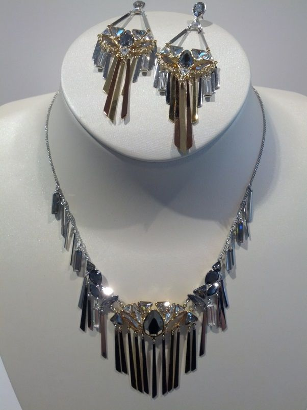Swarovski - Tribal Necklace and Earrings @COREShopping #springsentials