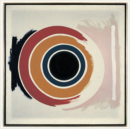 """No. One,"" 1958.  Kenneth Noland"