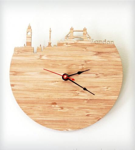London Modern Wall Clock by iluxo Jewelry and Design