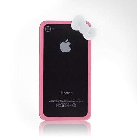 Lollimobile.comHello Kitty Bow Bumper iPhone 4/4S Cases