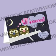 25  Evening Invitations - Owl Wedding Stationery
