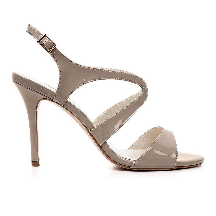 Code: 850A02 Heel height: 8cm www.mourtzi.com #grey #sandal