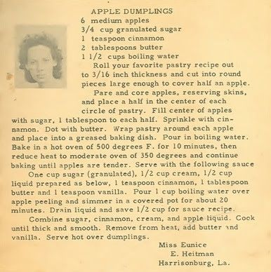 Roots from the Bayou : Family Recipe Friday ~ Apple Dumplings