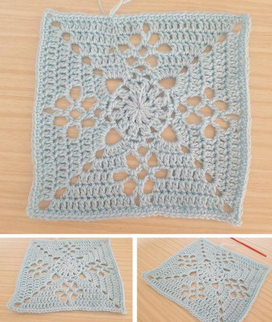 FREE Victorian Lattice Square crochet pattern - intheloopcrafts.blogspot.com