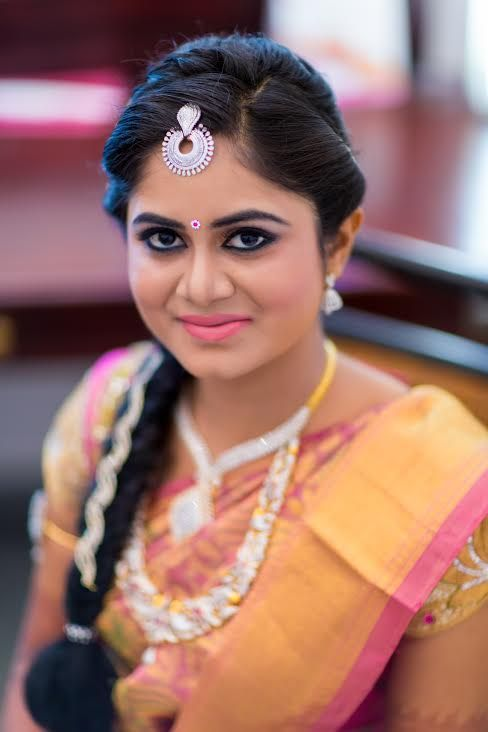 Make-up was done by Karthiga and her team from Angel Parlour, Erode.