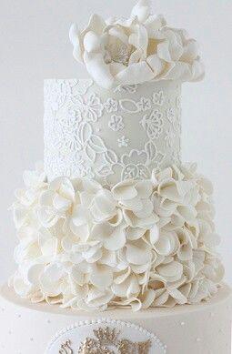 Perfect white wedding cake