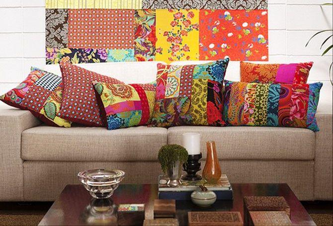 Colacorelinha | Ma Stump » Arquivos » Sala com almofadas coloridas: tô te amando.