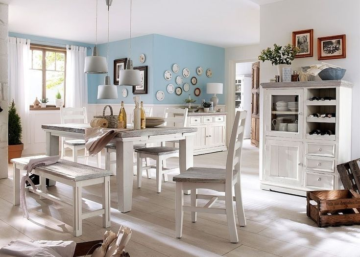 Wonderful Merveilleux Esszimmer Landhaus Rafael 1 Landhausmöbel Weiß Holz Kiefer  Massiv 5952. Buy Now At Https Ideas