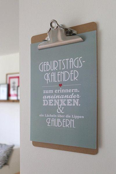 Geburtstagskalender von Heimwerk.design auf DaWanda.com