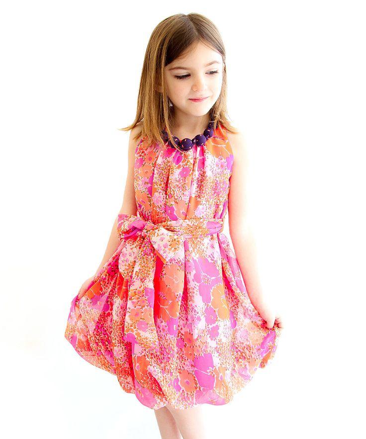 Sophie Catalou Neon Pink Tina Dress