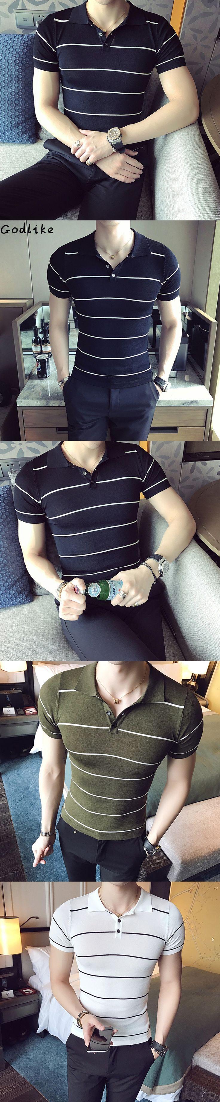 GODLIKE Polo Shirt Men Camisa Masculina Business & Casual Men's Striped Fashion 2017 Summer stripe Polo Shirts Short Sleeve