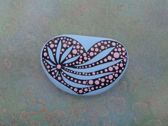 Pierre peinte / /Dot Art galet peint décoratif / Pierre roche