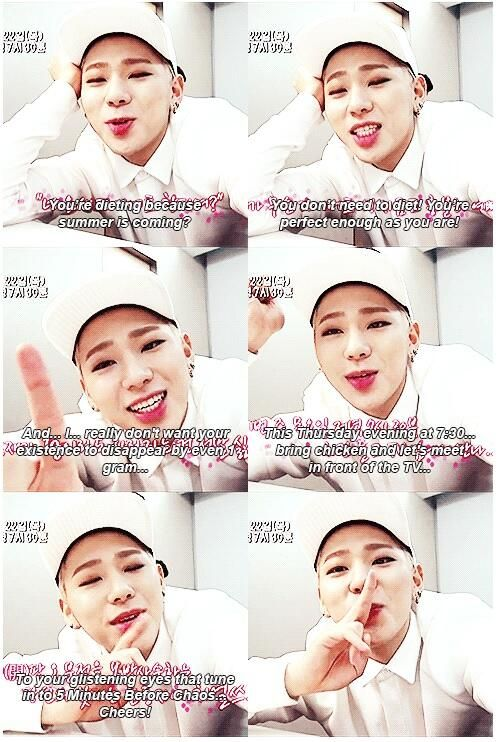 """Zico is so sweet ♥♥♥♥♥♥♥♥♥"" X3 lovely boy~~~~So very cheeky. Gotta love him."