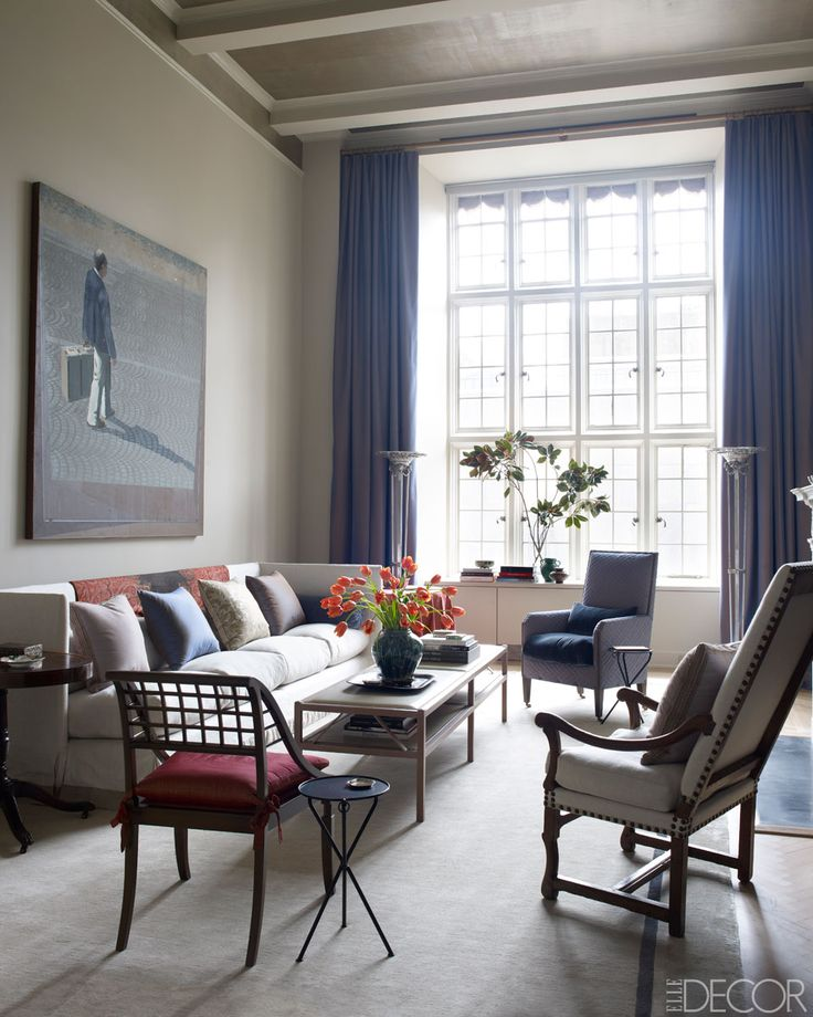 John Saladino Elle Decor Living Rooms Pinterest