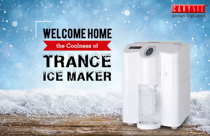 Keep those drinks icy and chilled with Carysil's Trance Ice Maker #CarysilKitchen #IceMaker #Kitchen