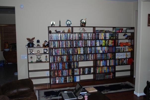 custom built dvd shelves diy big projects pinterest. Black Bedroom Furniture Sets. Home Design Ideas