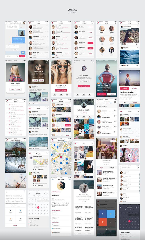 Social PORTAL UI PACK on Behance