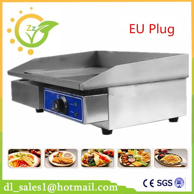 Restaurant equipment for sale commercial Thermostat electric griddle machine/commercial electric contact grill