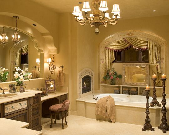 Tuscan inspired design - Master Bathroom -  - IMI Design Studio