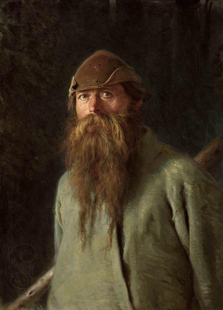 Крамской. Полесовщик. 1874