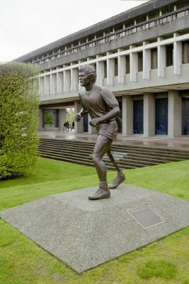 Statue of Terry Fox, SFU Quad