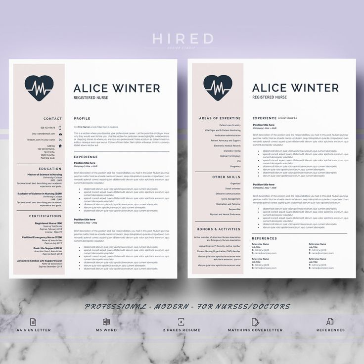 21 best Nurse Resume Templates images on Pinterest Cv template - mac pages resume templates