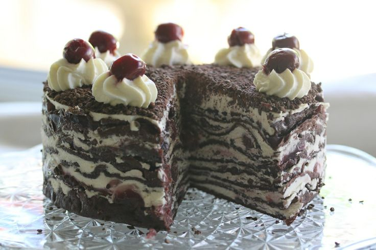 Black Forest Crepe Torte #thermomix #recipe