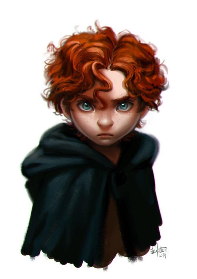 Agora é saber se é um dos irmãos mais novos da Merida ou se é ela mesma versão masculina