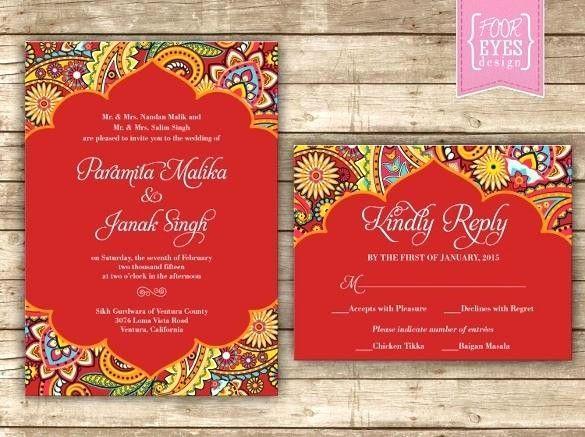 Wedding Invitation Card Template Editable Beautiful Indian Wedd Indian Wedding Invitation Cards Hindu Wedding Invitation Cards Wedding Invitation Online Design