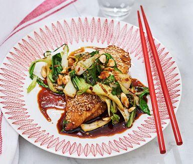 Recept: Chicken teriyaki med pak choi