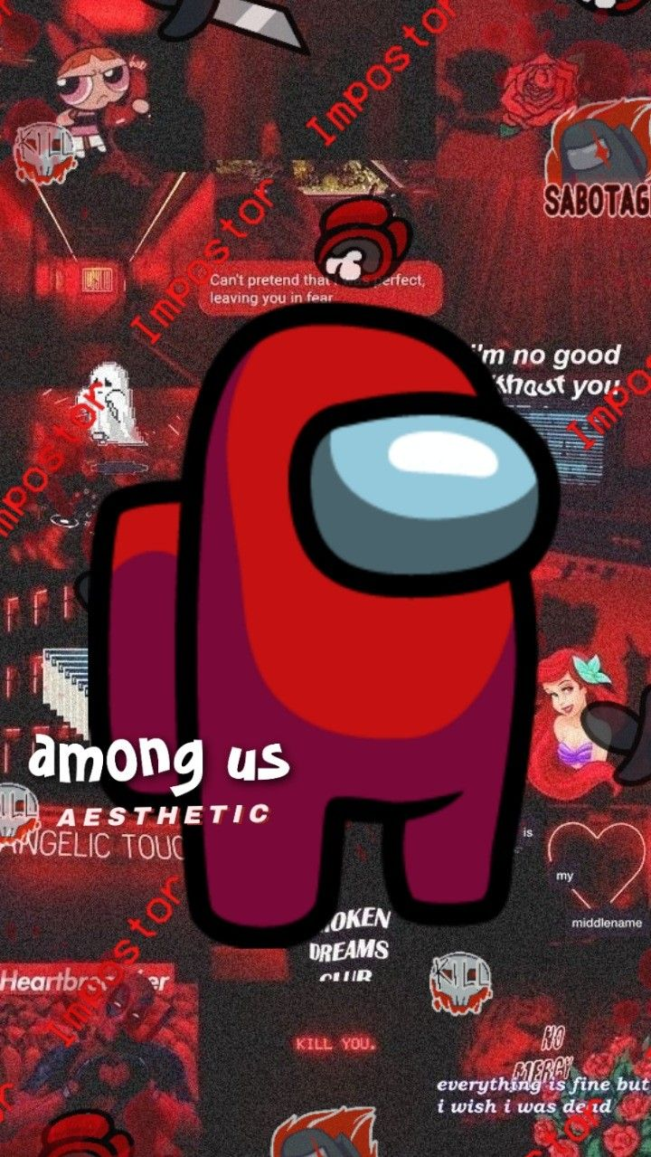Among Us Wallpaper Red Cool Backgrounds Wallpapers Aries Wallpaper Wallpaper Iphone Cute
