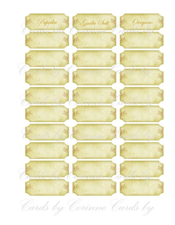 19 best Labels for your spice rack images on Pinterest | Spice racks ...