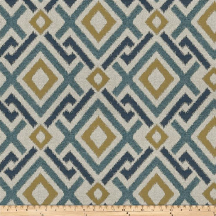 Fabricut Archetype Chenille Cyan from @fabricdotcom  This lovely chenille fabric is  perfect for valences, toss pillows, and upholstery projects like ottomans and headboards.