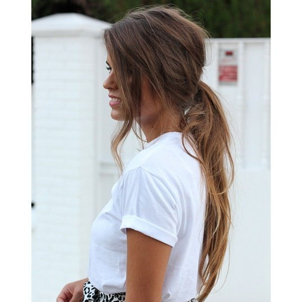 Subtle ombre hair - I love her pony too!