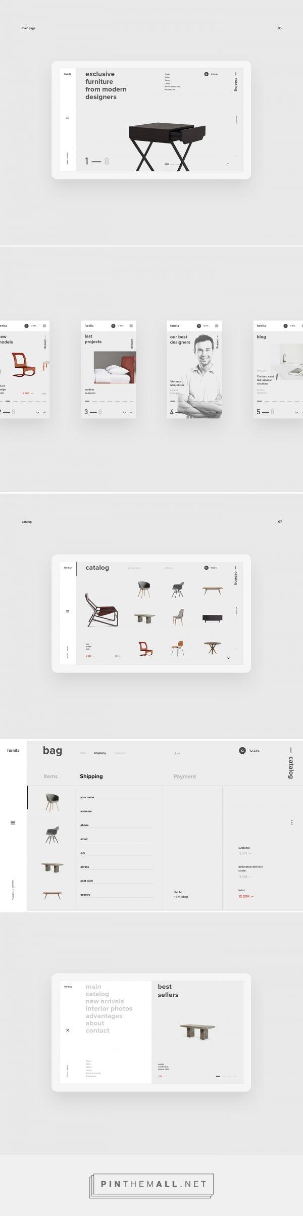 furnita — web on Behance - created via https://pinthemall.net
