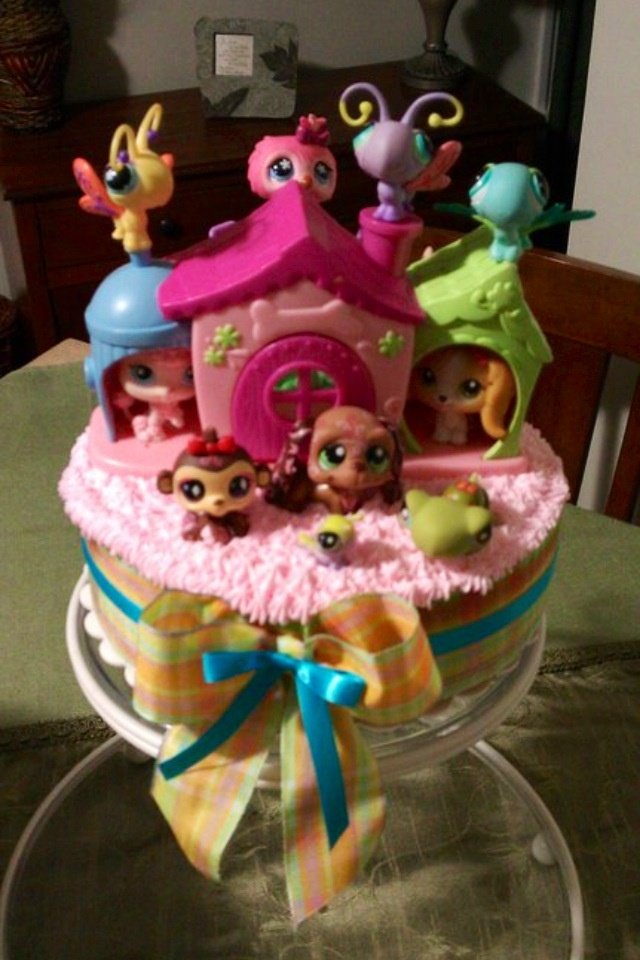 Littlest pet shop cake