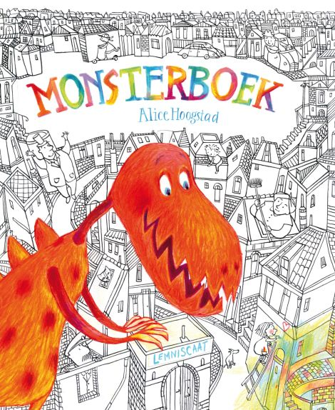 Monsterboek (Alice Hoogstad) Tekstloos prentenboek, 4+.