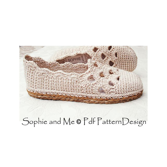 The basic slippers with handmade Cord-Soles attached!