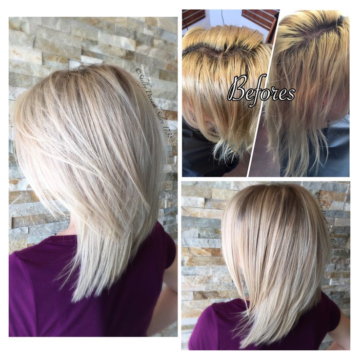 Shadow Roots W Platinum Blonde Great Before Amp After