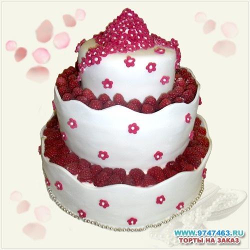 i do like raspberries! Свадебный торт на заказ в СПб, красивые свадебные торты с фото, заказать торт на свадьбу Санкт-Петербург - Торты «Любой Каприз»