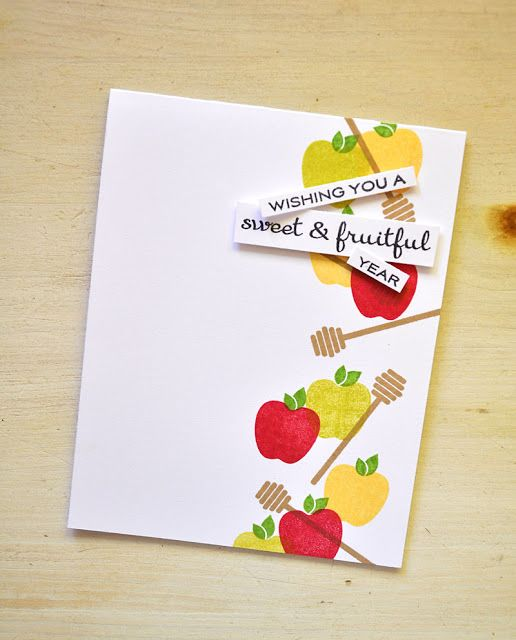 Sweet & Fruitful Year Card by Maile Belles for Papertrey Ink (July 2015)
