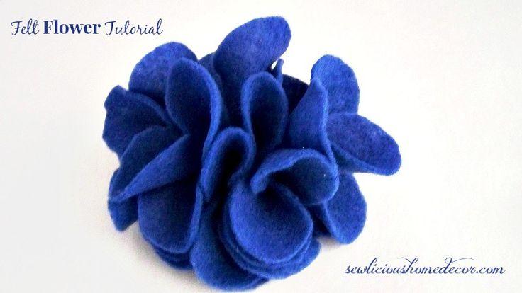 Easy Felt Flower Tutorial.  sewlicioushomedecor.com #flower