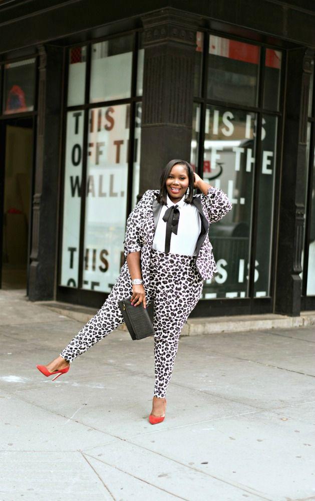 ba3799ab42a96 Plus Size Fashion for Women  plussize - How To Wear A Plus Size Leopard  Print Suit