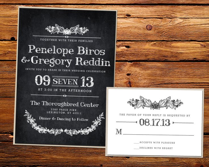 46 best janes wedding invite images on pinterest invitation ideas kxo design vintage chalkboard wedding invitations stopboris Gallery