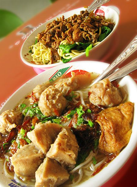 Mie Ayam and Bakso - Indonesian Food