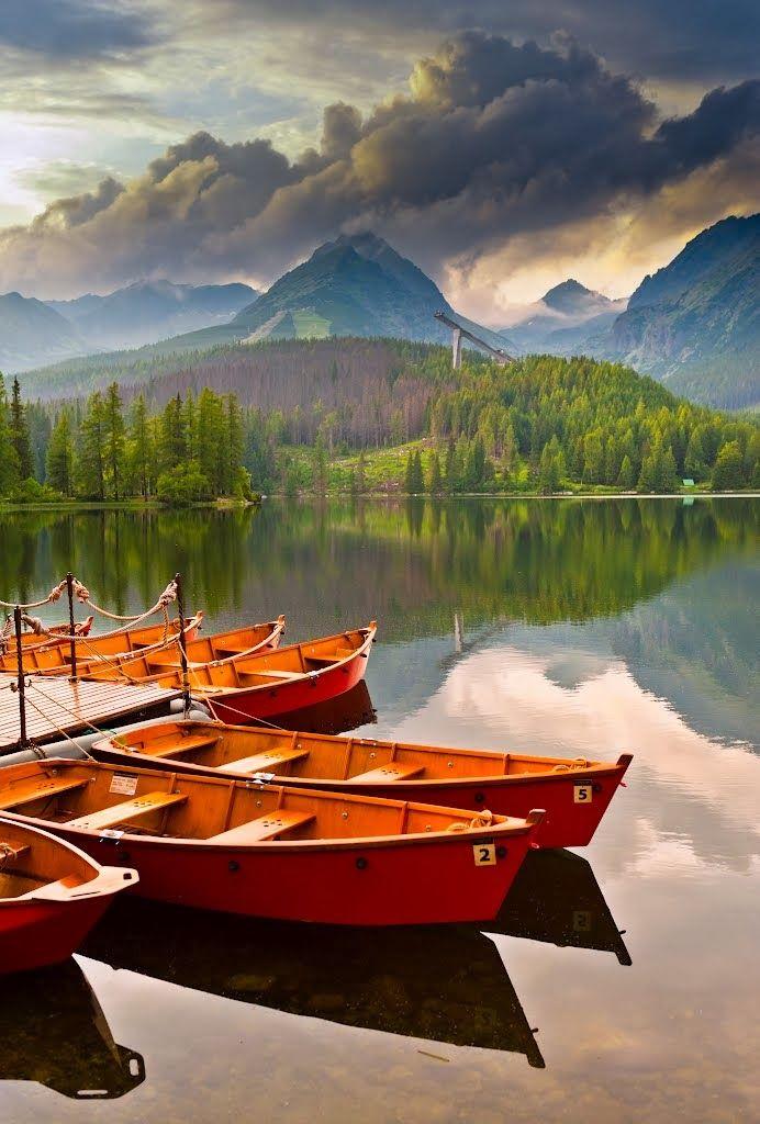 Štrbské pleso lake, Slovakia -