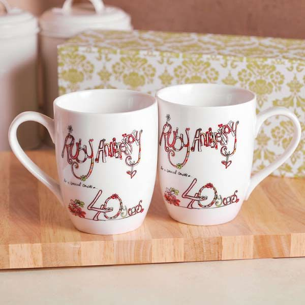 40th Ruby Wedding Anniversary Mugs Something Diffe For A Also Comes